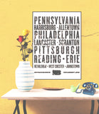 "Pennsylvania State Poster - 18"" x 24"" - Parkway Prints"