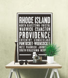 "Rhode Island State Poster - 18"" x 24"" - Parkway Prints"