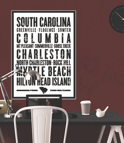 "South Carolina State Poster - 18"" x 24"" - Parkway Prints"