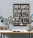 "South Dakota State Poster - 18"" x 24"""