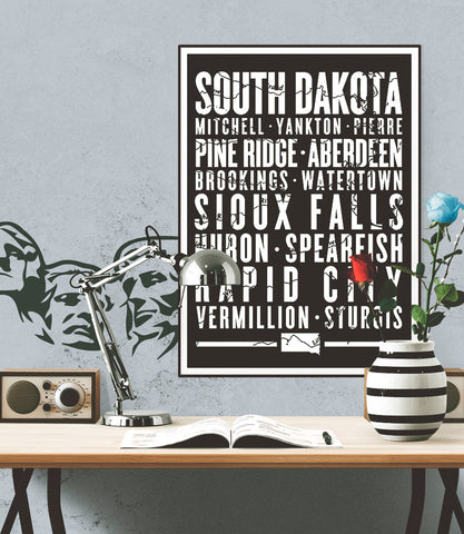 "South Dakota State Poster - 18"" x 24"" - Parkway Prints"