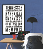 "Tennessee State Poster - 18"" x 24"" - Parkway Prints"