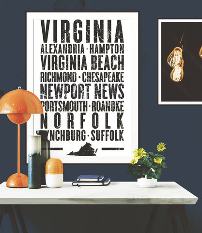"Virginia State Poster - 18"" x 24"""