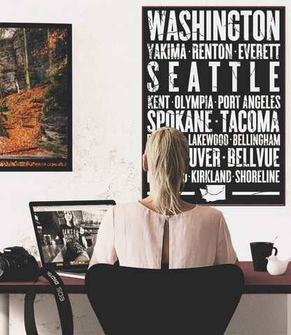 "Washington State Poster - 18"" x 24"" - Parkway Prints"