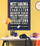 "West Virginia State Poster - 18"" x 24"" - Parkway Prints"