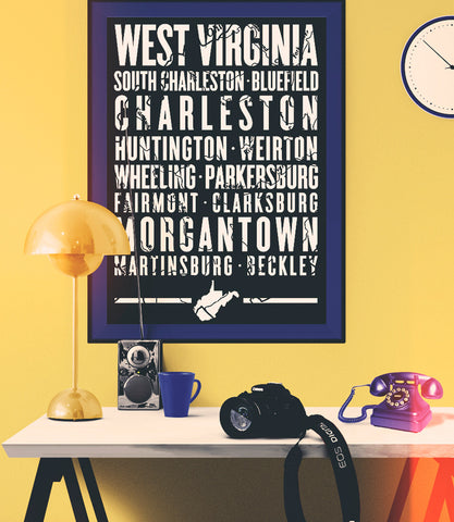 "West Virginia State Poster - 18"" x 24"""