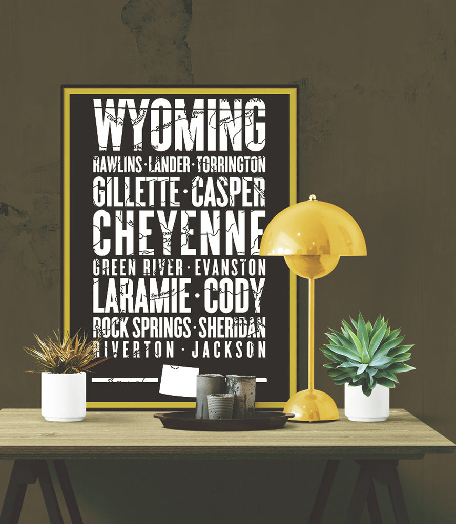 "Wyoming State Poster - 18"" x 24"""