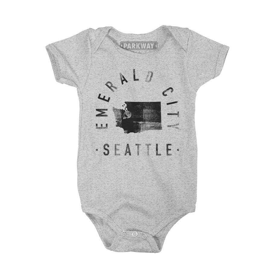 Seattle Washington - City Motto Onesie - Unisex - Parkway Prints