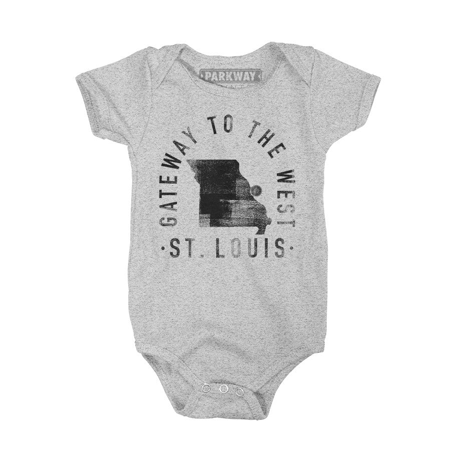 Saint Louis Missouri - City Motto Onesie - Unisex - Parkway Prints