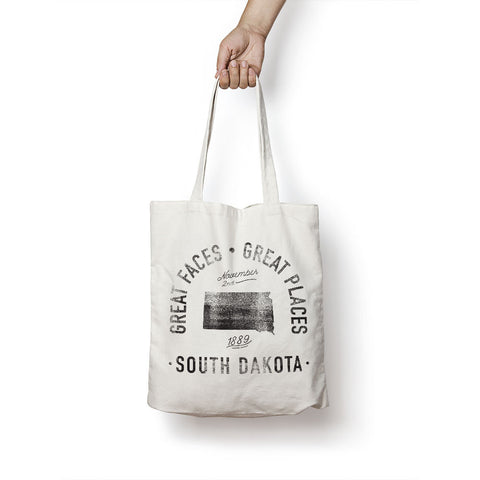 State of South Dakota - Motto - Tote Bag - Parkway Prints