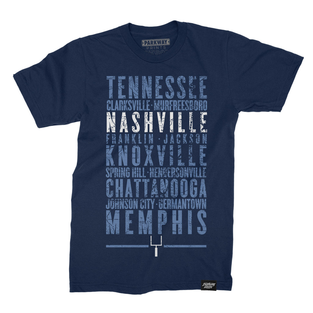 Nashville Tennessee - Third and Long - Navy Shirt - Unisex
