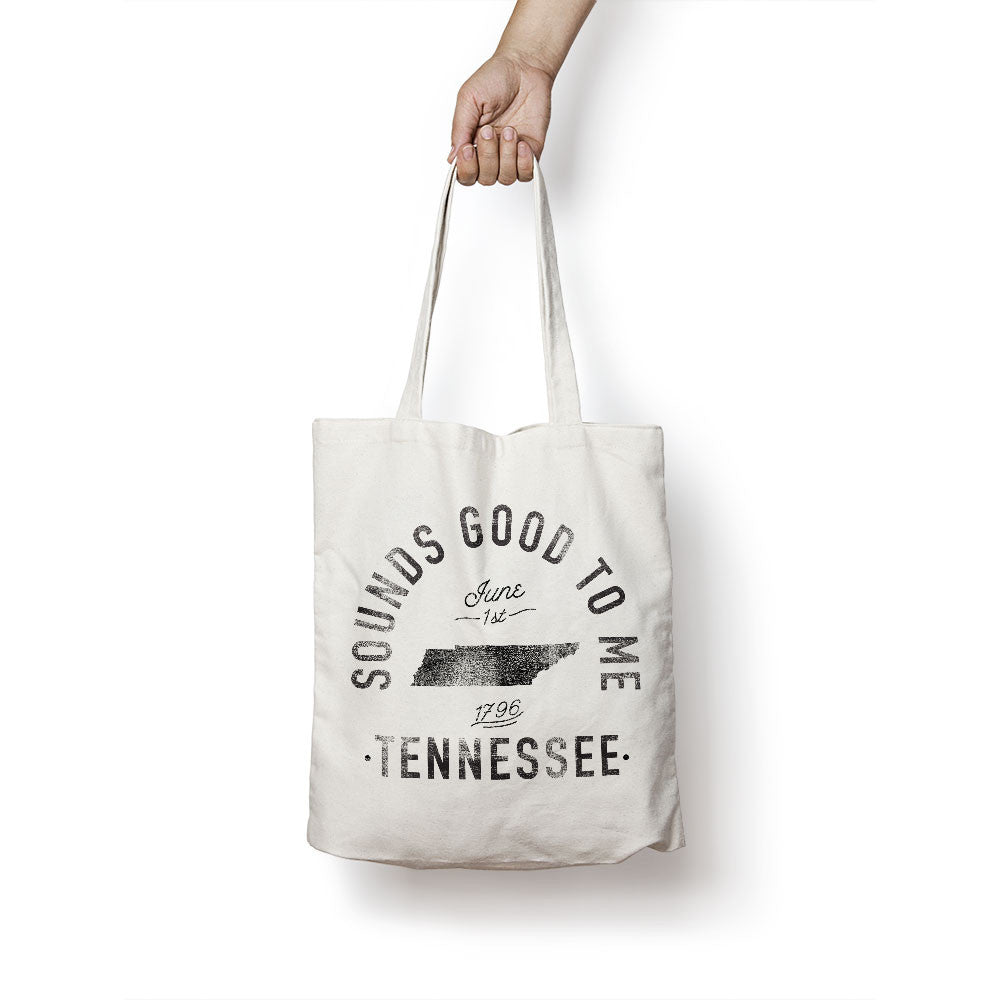 State of Tennessee - Motto - Tote Bag - Parkway Prints
