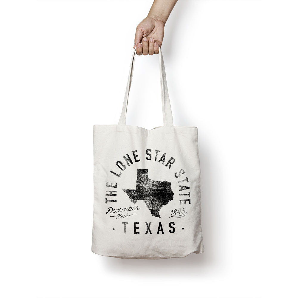 State of Texas Motto Tote Bag - Parkway Prints