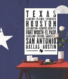 "Texas State Poster - 18"" x 24"""