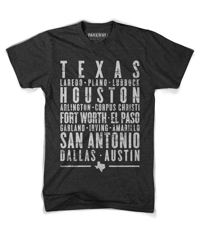 Texas State Shirt - Unisex - Parkway Prints