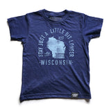State of Wisconsin Motto Youth Shirt - Parkway Prints
