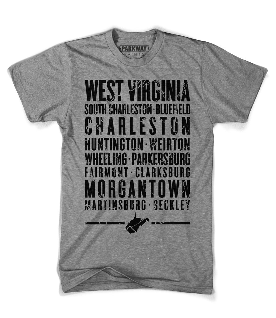 West Virginia State Shirt - Unisex - Parkway Prints
