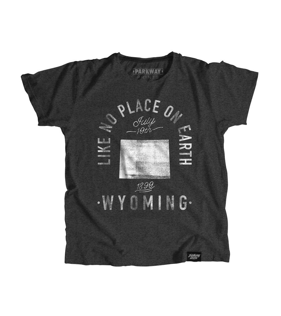 State of Wyoming Motto Youth Shirt - Parkway Prints