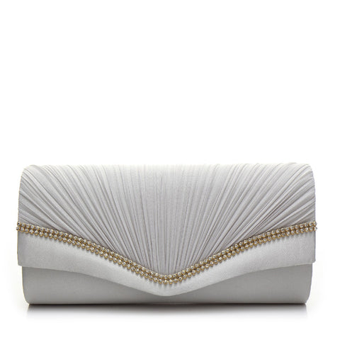 Promo Satin Evening Bag - PR0996 Grey