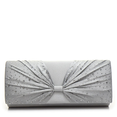 Promo Satin Evening Bag - PR0997 Silver