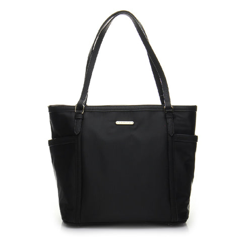Basic Signature Shopper Tote Bag - BS1733 Black