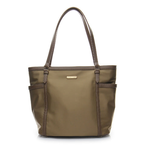 Basic Signature Shopper Tote Bag - BS1733 Brown