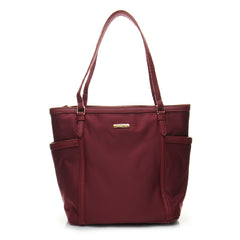 Basic Signature Shopper Tote Bag - BS1733 Red