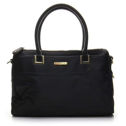 Basic Signature Shopper Tote Bag - BS1766 Black