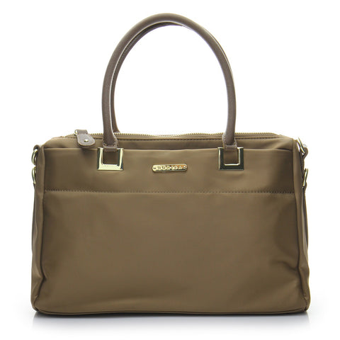 Basic Signature Shopper Tote Bag - BS1766 Brown