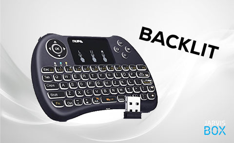 Deluxe Keyboard BackLit Remote - JarvisBox