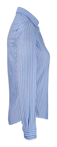 J.H&F Indigo Bow 34 Woman Blue stripe
