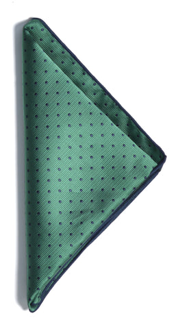Dotted pocket square - 706 green/navy