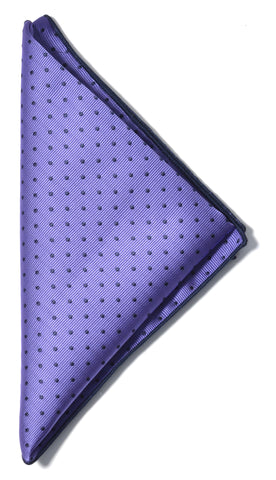 Dotted pocket square - 806 purple/navy