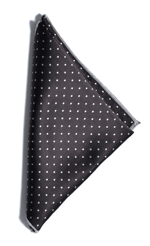 Dotted pocket square - 901 black/white