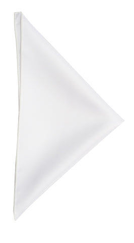 White pocket square - 100 White