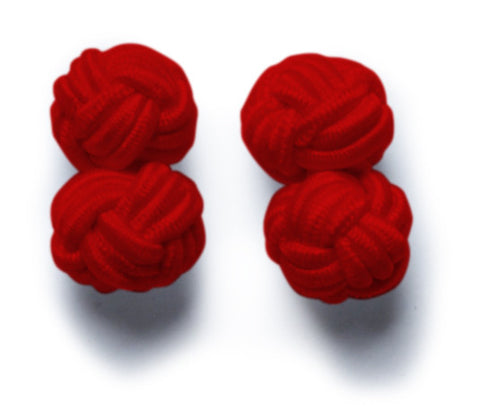 Knot-on-bar Cufflink - 400 red