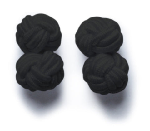 Knot-on-bar Cufflink - 900 black