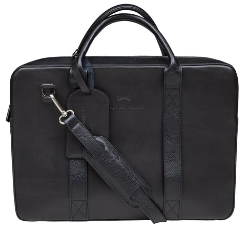 Briefcase - Black leather