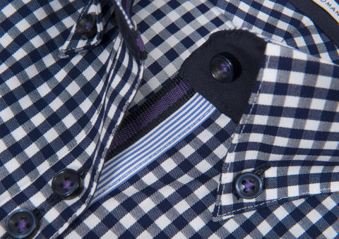 Purple bow 41 Woman - 601 Navy check