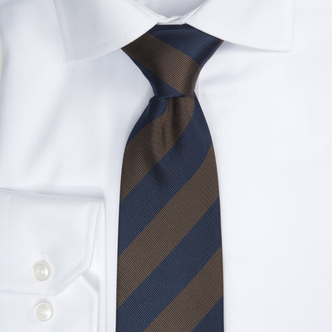 Regimental stripe - 602 Navy/brown