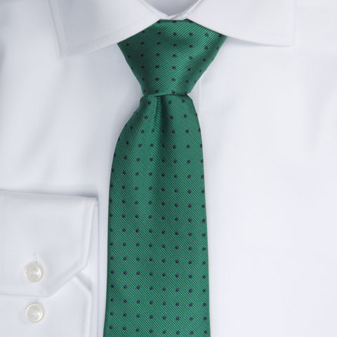 Dotted Tie - 706 green/navy