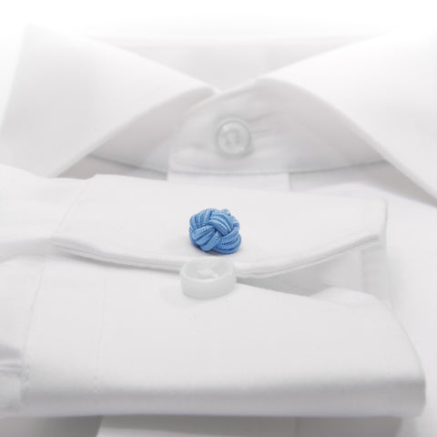 Knot-on-bar Cufflink - 500 l blue