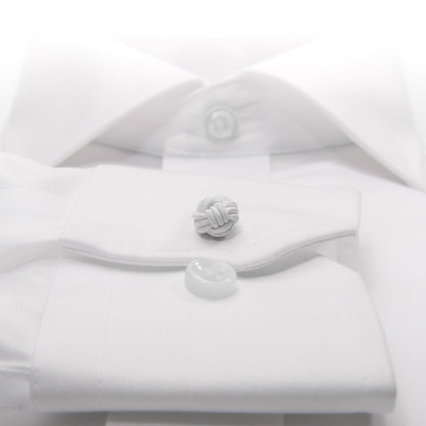 Knot-on-bar Cufflink - 100 white