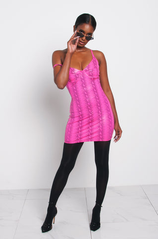 VENOM PINK MINI DRESS