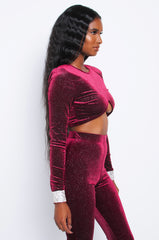 Burgundy Diamond Stardust Top