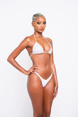 White Diamond Gleam Bikini Top