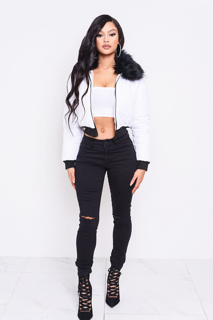 Whiteout Puffer Jacket
