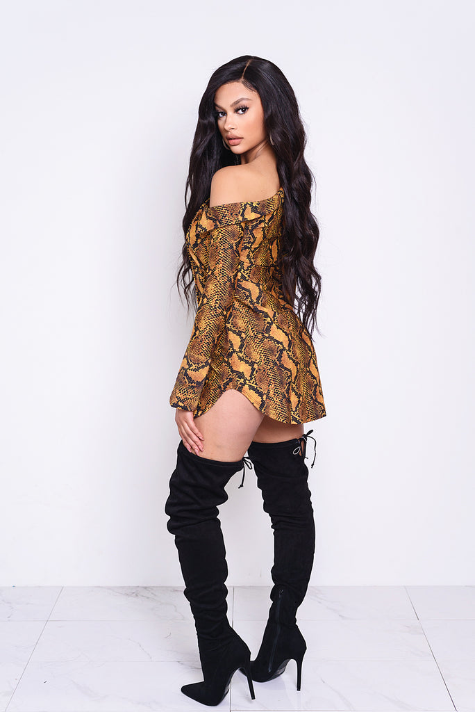 Orange RattleSnake Shirt Dress