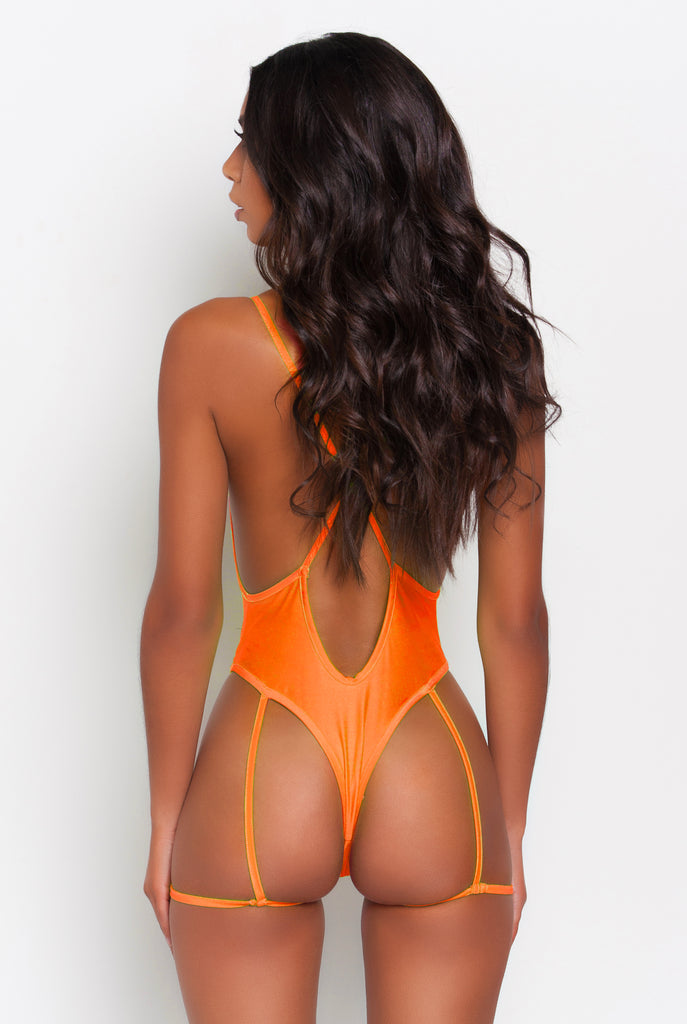 Tangerine Gia Garter Belt One Piece