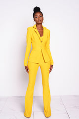 Yellow Dionne Blazer Jacket
